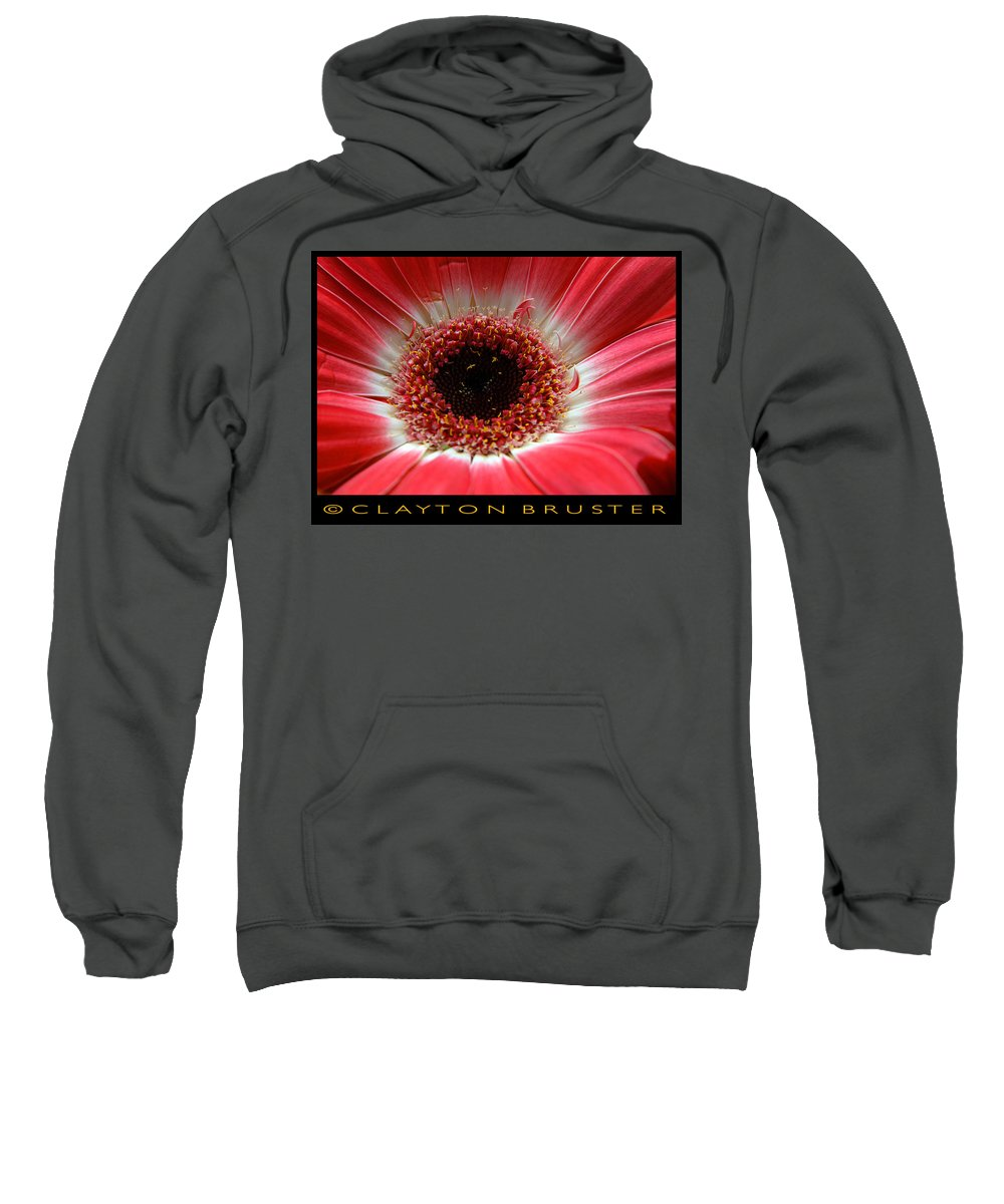 Clay Sweatshirt featuring the photograph Floral by Clayton Bruster