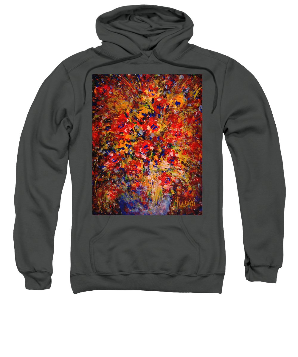 Flowers Sweatshirt featuring the painting Floral Feelings by Natalie Holland