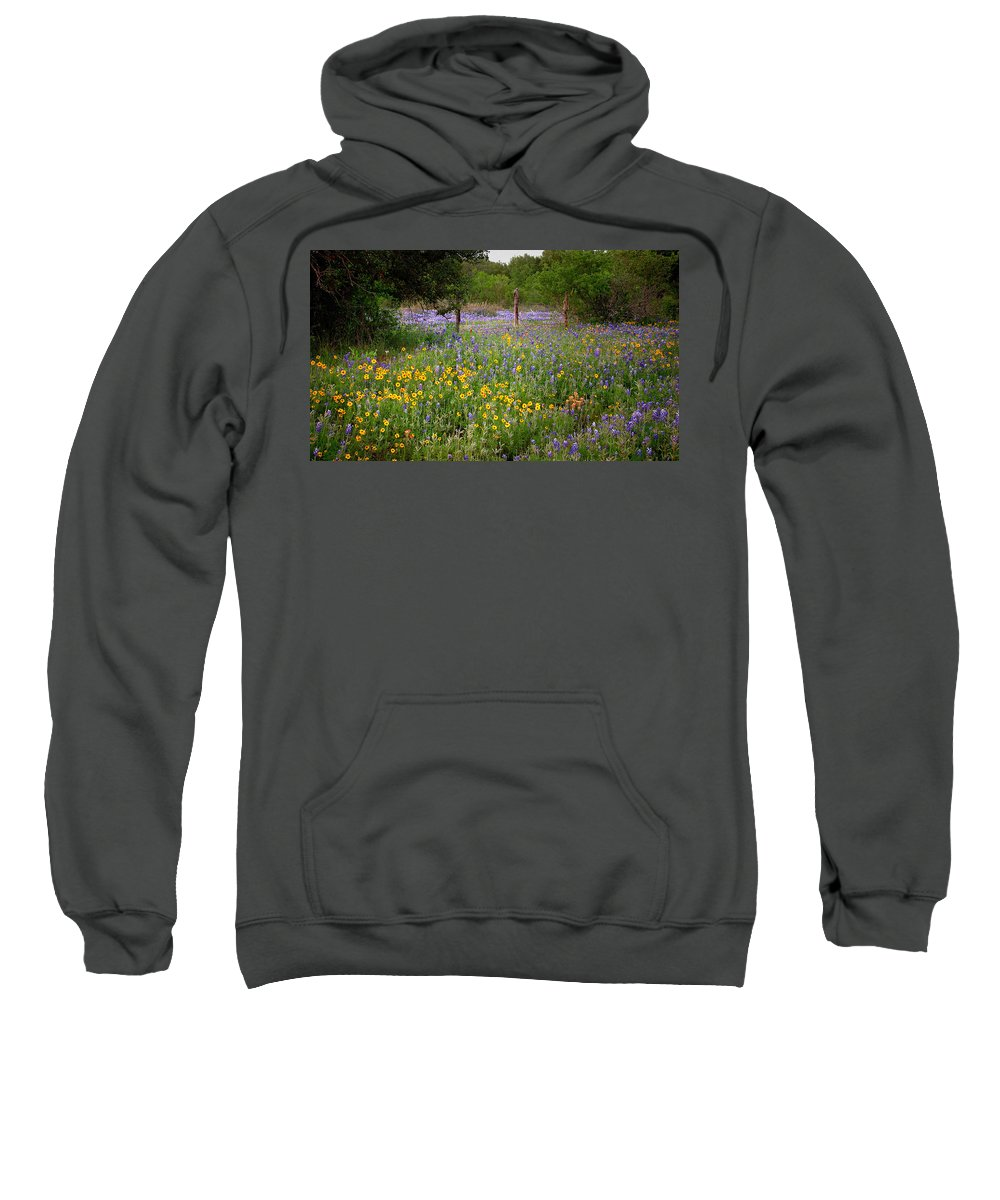 Landscape Sweatshirt featuring the photograph Floral Pasture No. 2 by Jon Holiday