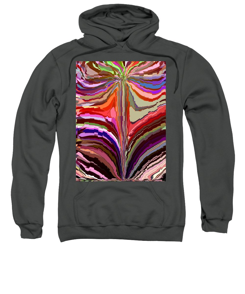 Abstract Sweatshirt featuring the digital art Flourish Again by Tim Allen