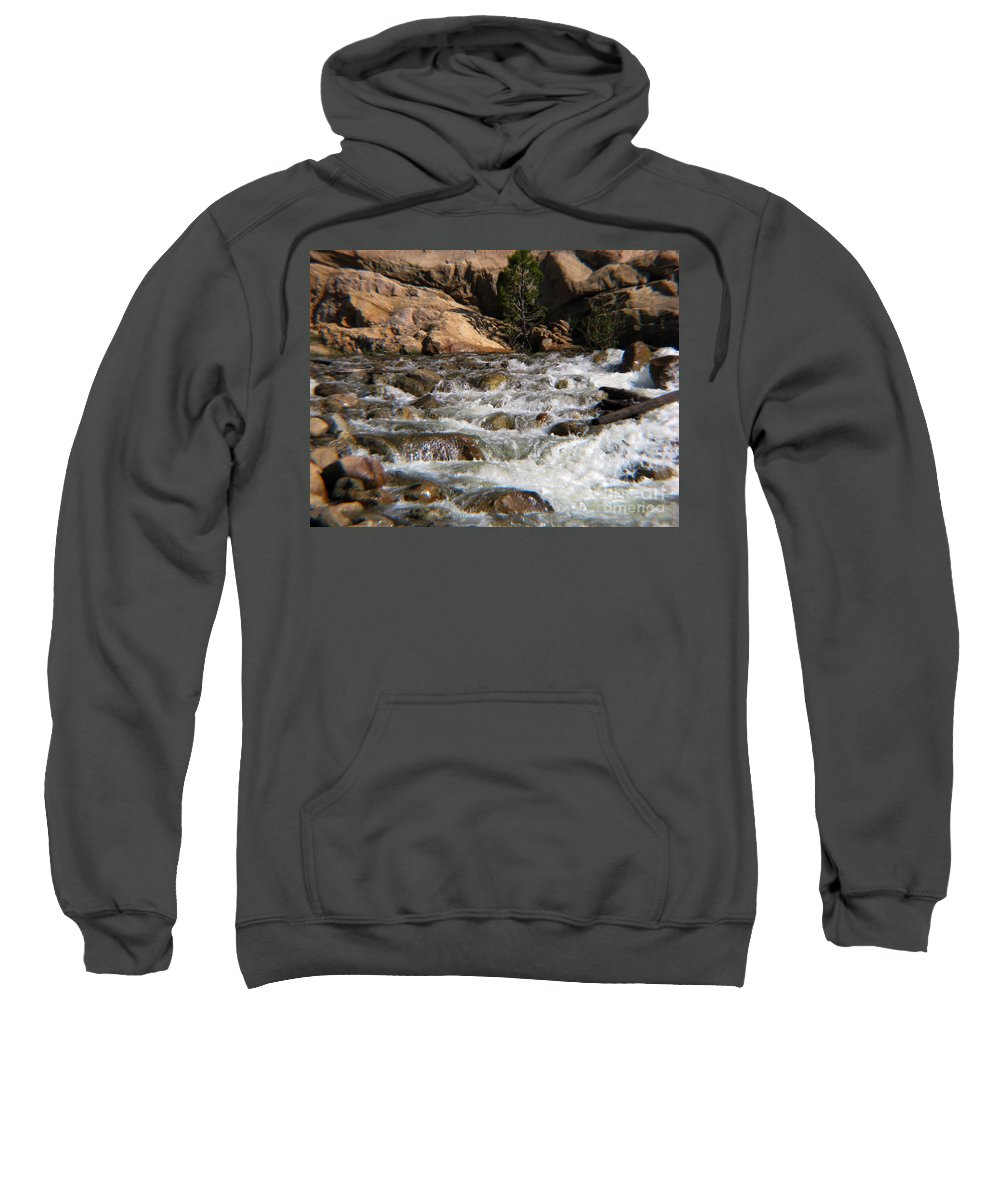 River Sweatshirt featuring the photograph Flow by Amanda Barcon