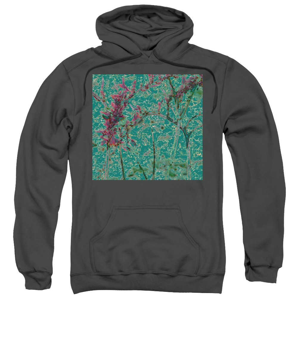 Abstract Sweatshirt featuring the photograph Flower Arches by Lenore Senior