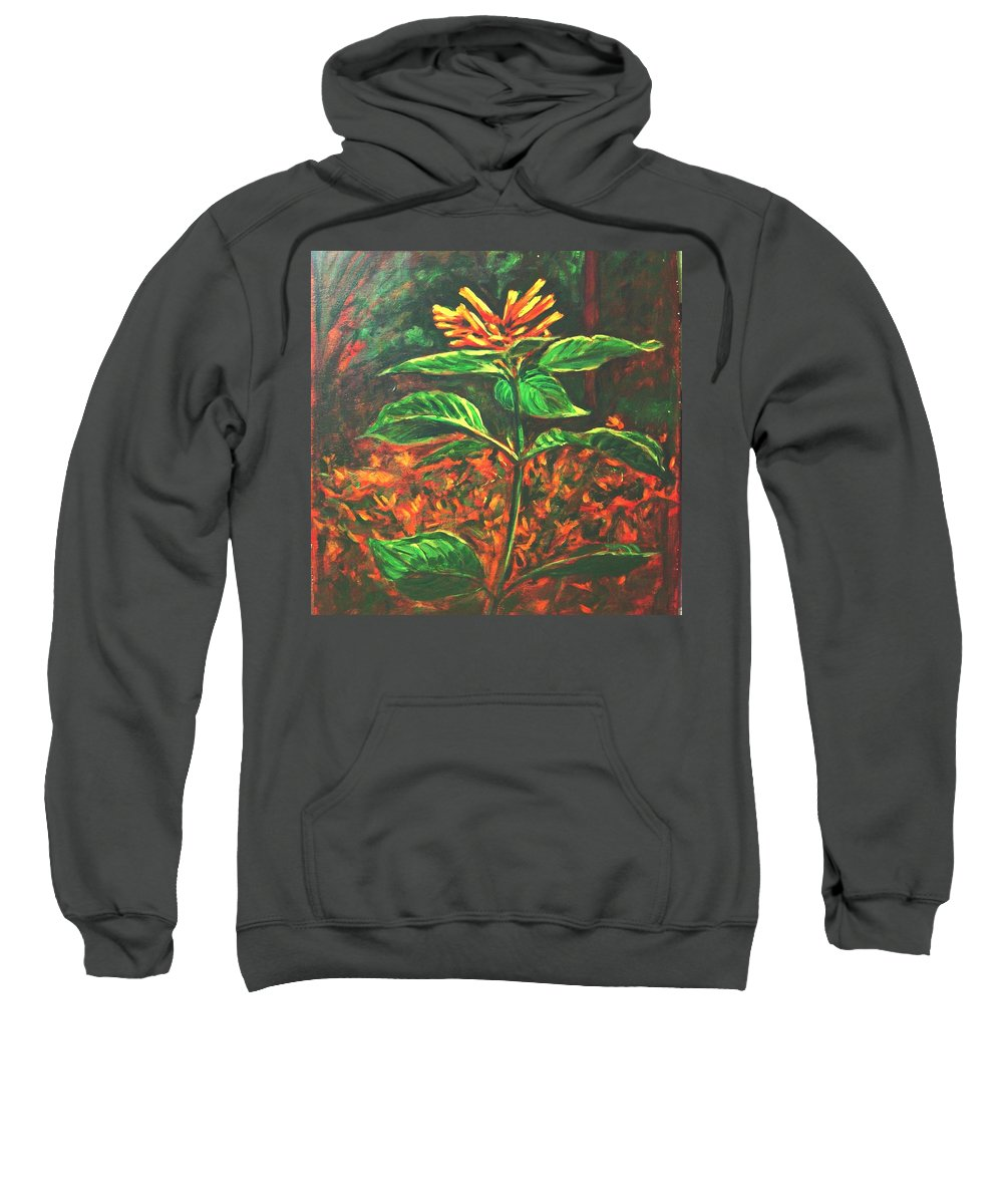 Flower Sweatshirt featuring the painting Flower Branch by Usha Shantharam