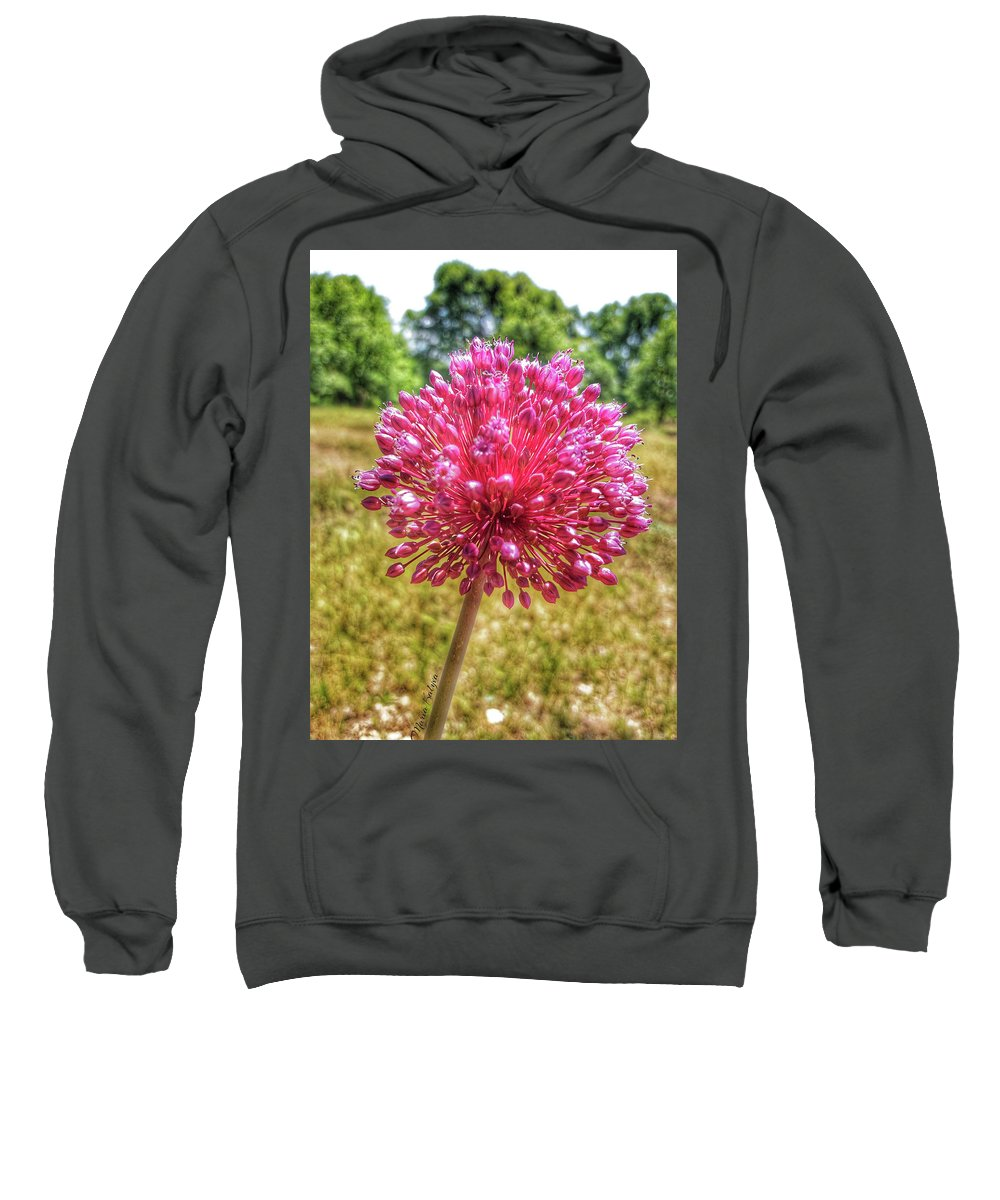 Sweatshirt featuring the photograph Flower by Maria Kalyva