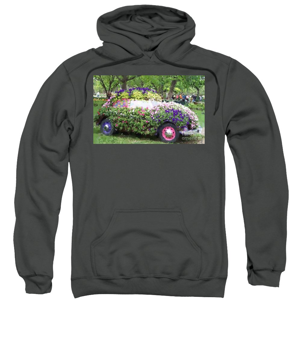 Cars Sweatshirt featuring the photograph Flower Power by Debbi Granruth