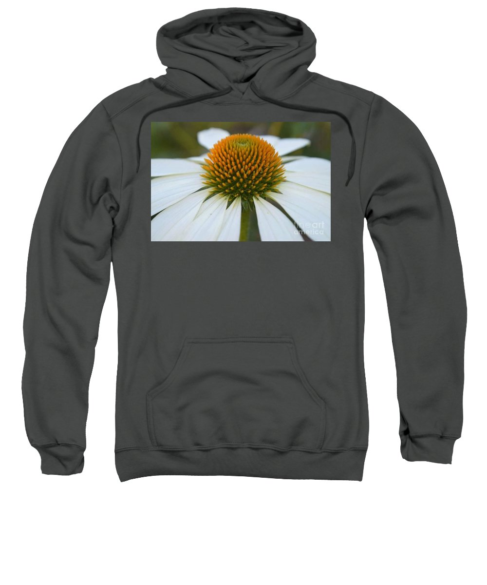 Flower Sweatshirt featuring the photograph Flower Power Sacred Geometry by Alicia Ingram