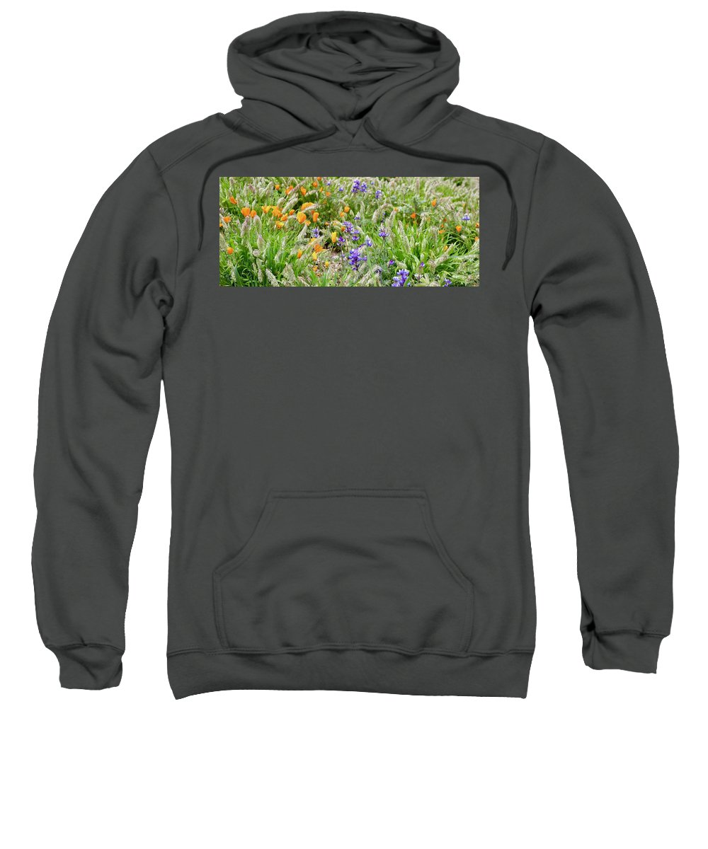 Poppies Sweatshirt featuring the photograph Flower Whispers by Erin Finnegan