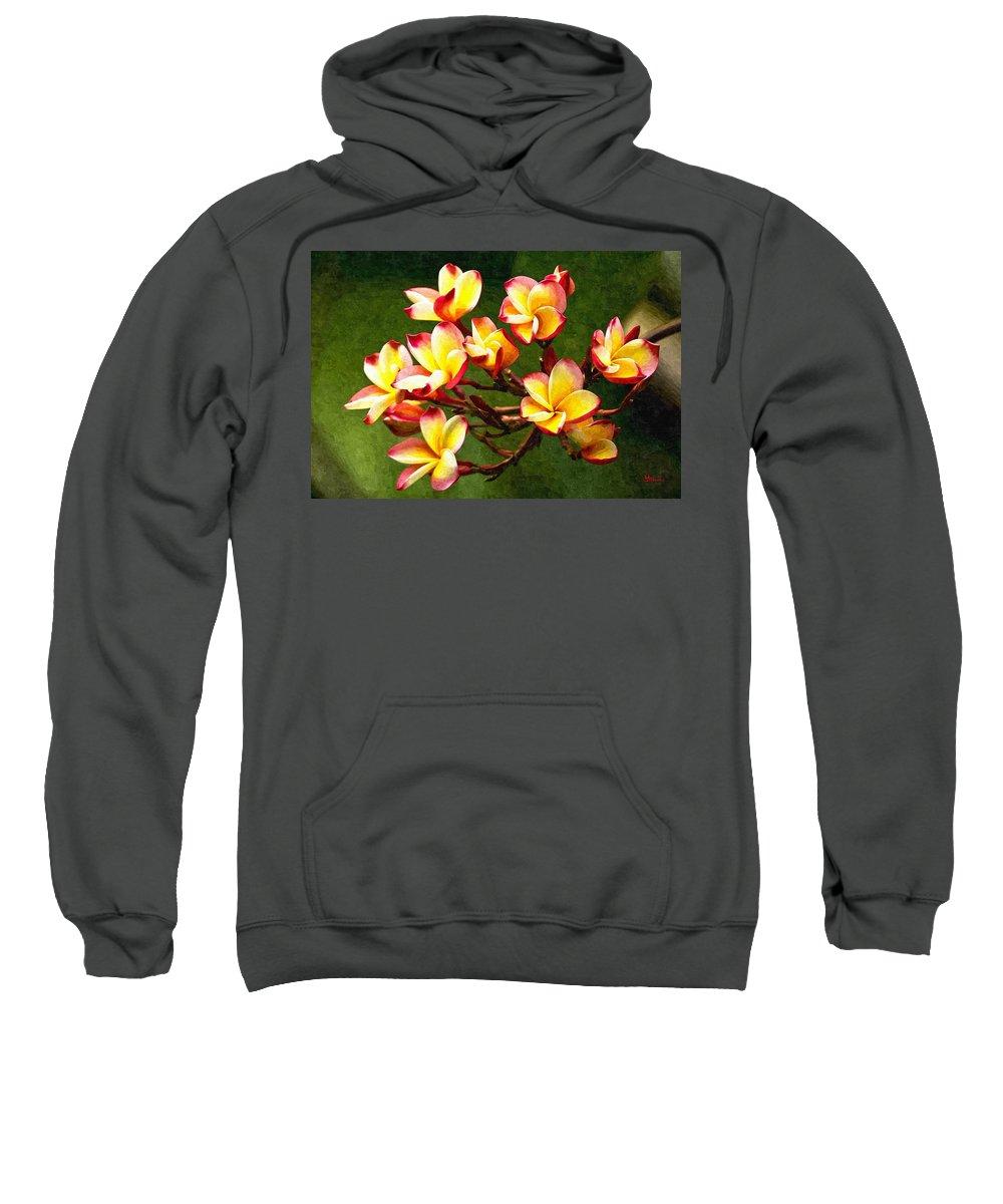 Branch Sweatshirt featuring the digital art Flowerage by Max Steinwald