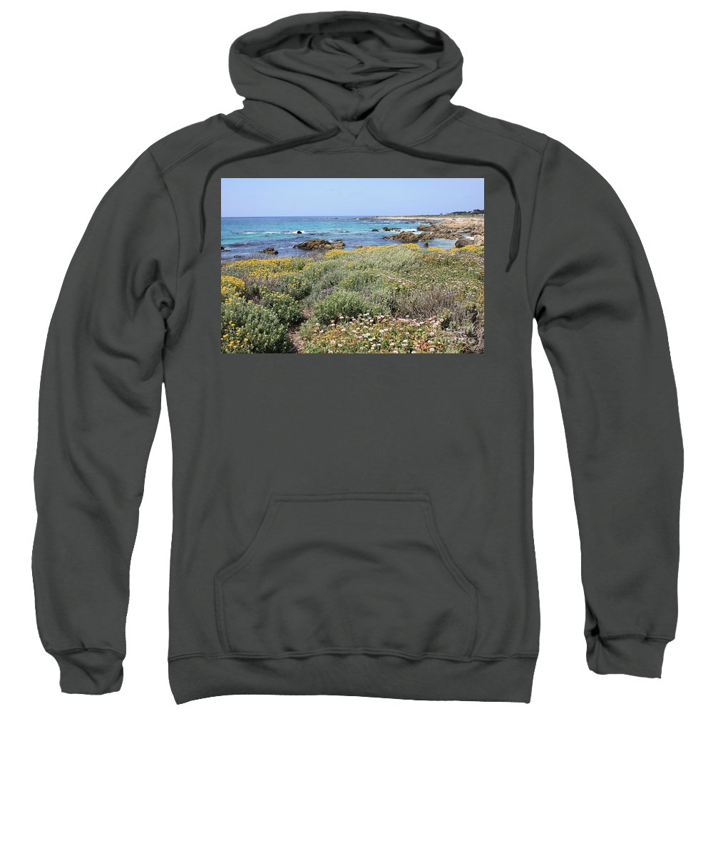 Sweatshirt featuring the photograph Flowers And Surf by Carol Groenen