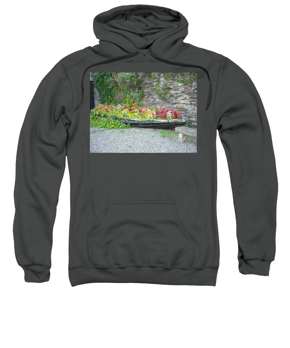 Inistioge Sweatshirt featuring the photograph Flowers Floating by Kelly Mezzapelle