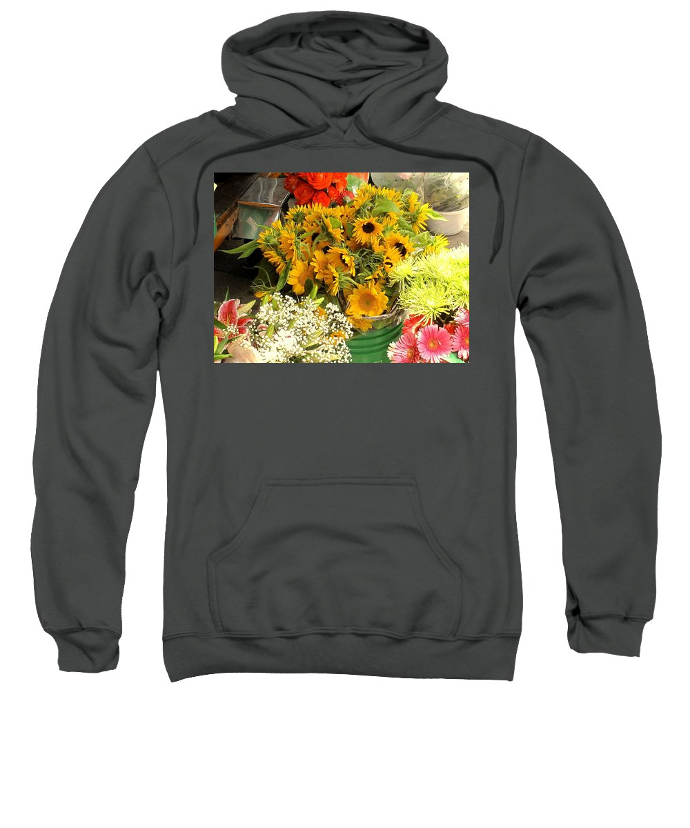 Flowers Sweatshirt featuring the photograph Flowers For Sale by Ian MacDonald