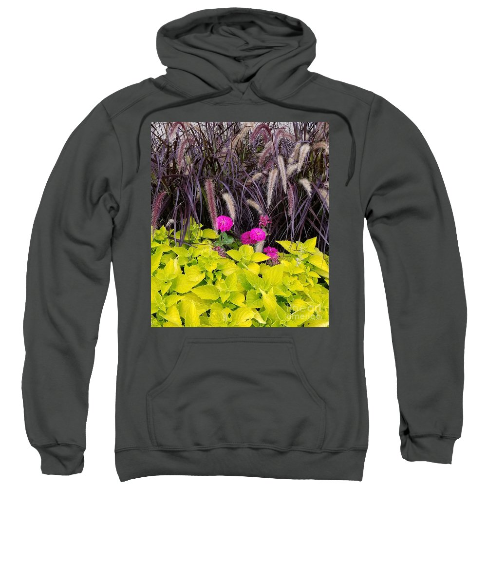 Flowers Sweatshirt featuring the photograph Flowers In Contrast by Sherry Oliver