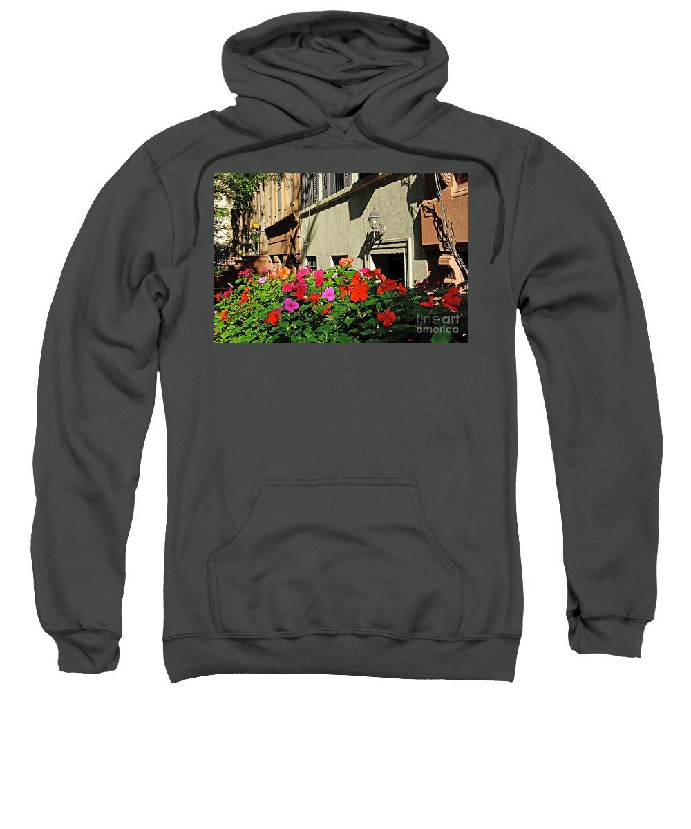 Flowers Sweatshirt featuring the photograph Upper West Side, New York by Zal Latzkovich