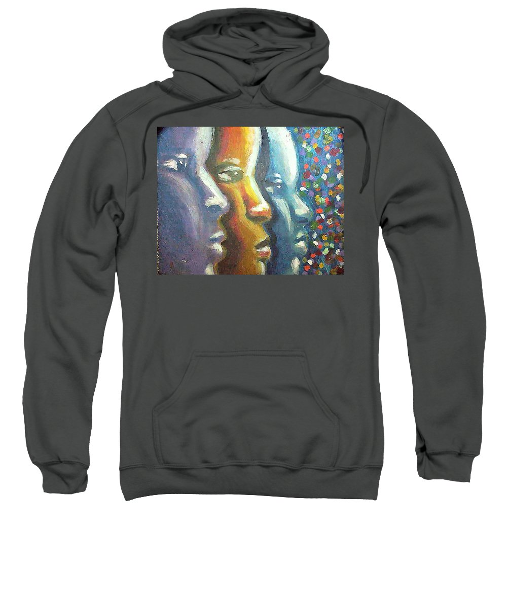 Color Sweatshirt featuring the painting Focus by Jan Gilmore