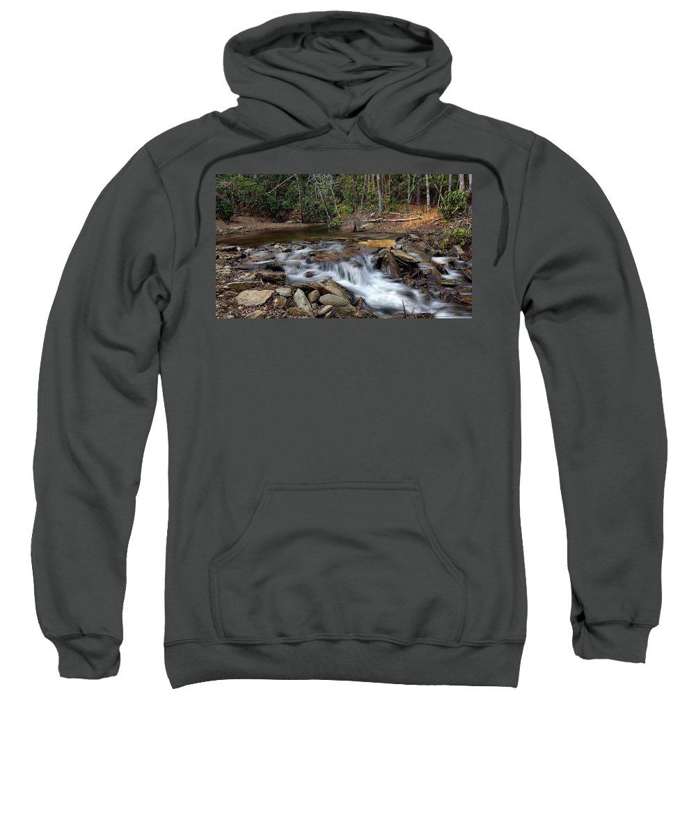 Fodder Creek Sweatshirt featuring the photograph Fodder Creek by Joe Duket