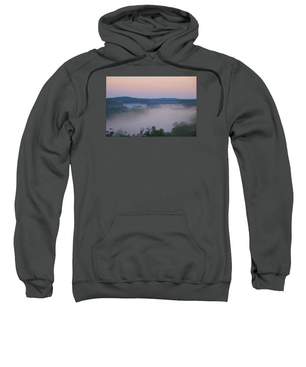 Fog Sweatshirt featuring the photograph Fog at Dusk by Toni Berry