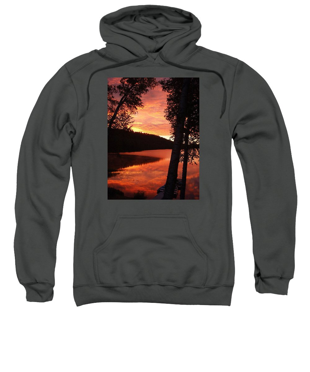 Sunrise Sweatshirt featuring the photograph Fog On The Water by Mary Lynne Crispo