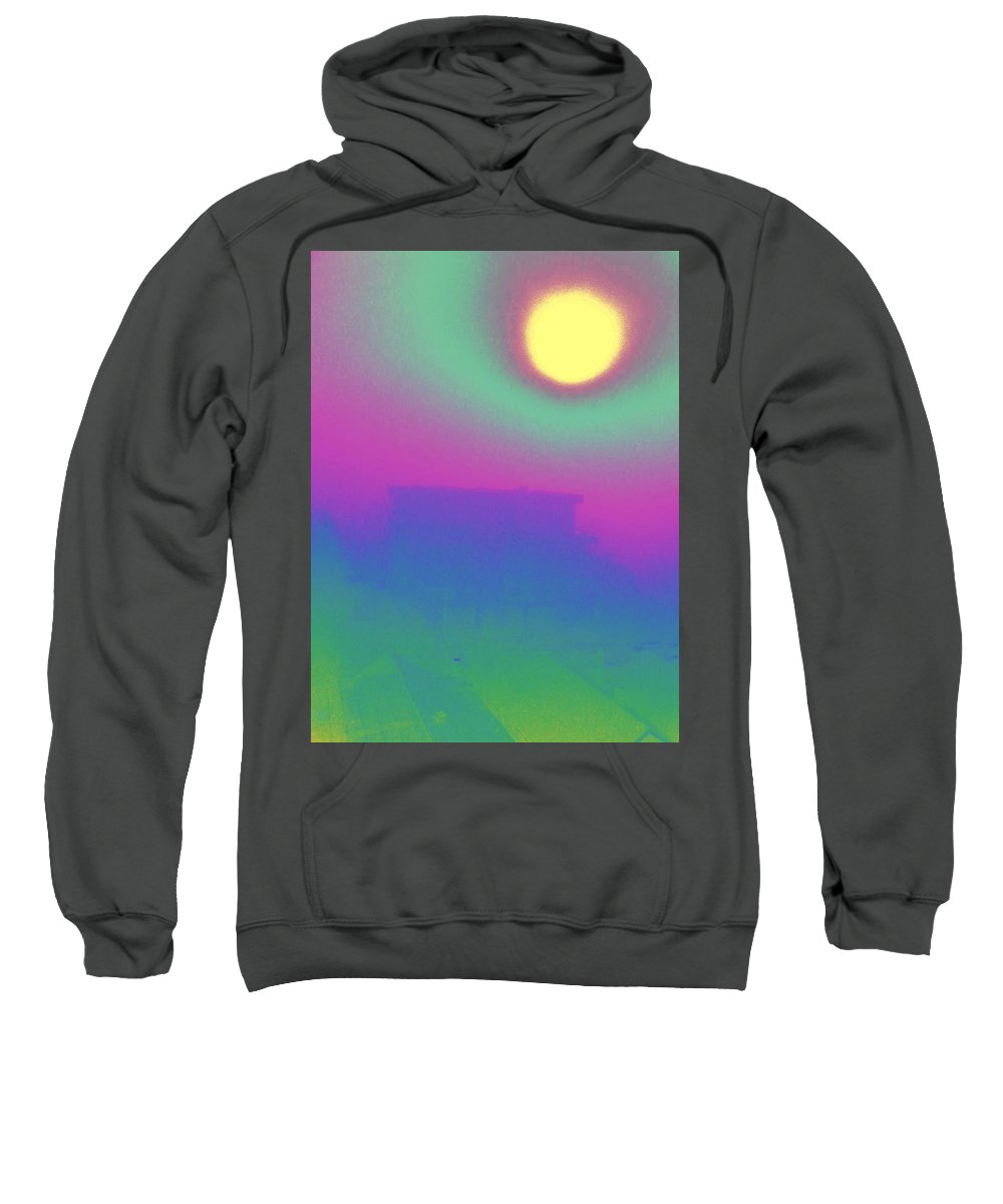 Abstract Sweatshirt featuring the digital art Foggy Day by Tim Allen