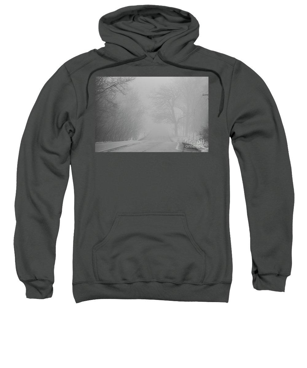 Fog Sweatshirt featuring the photograph Foggy Road In Winter by David Bearden