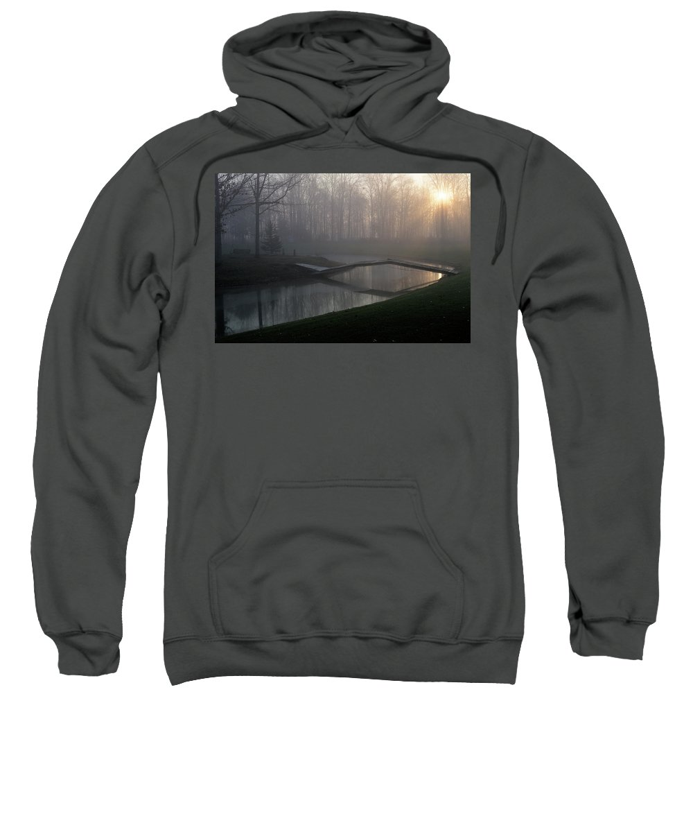 Bridge Sweatshirt featuring the photograph Footbridge by David Arment