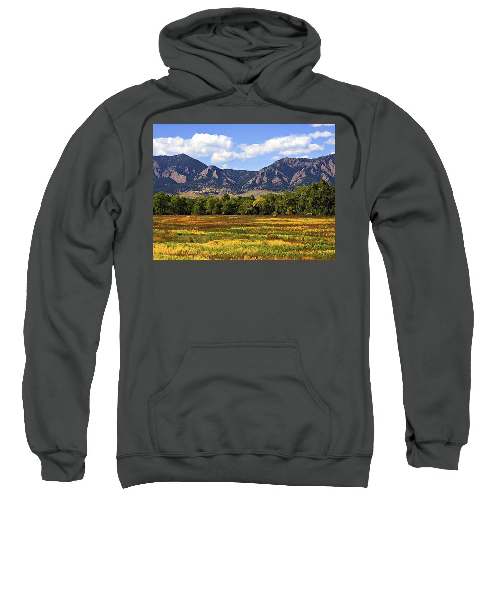 Fall Sweatshirt featuring the photograph Foothills Of Colorado by Marilyn Hunt