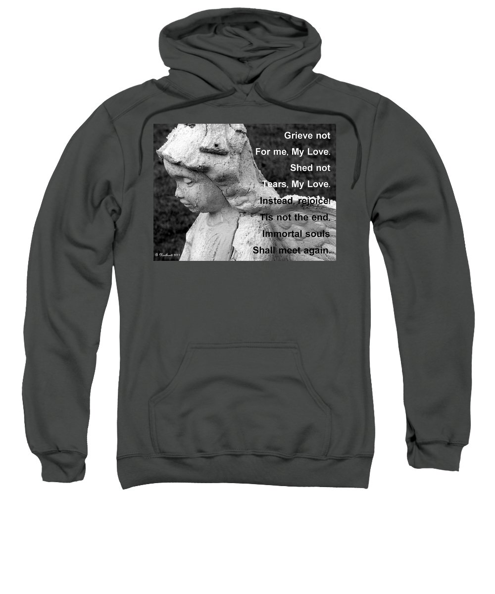 Angel Sweatshirt featuring the photograph For Lelia by Betty Northcutt