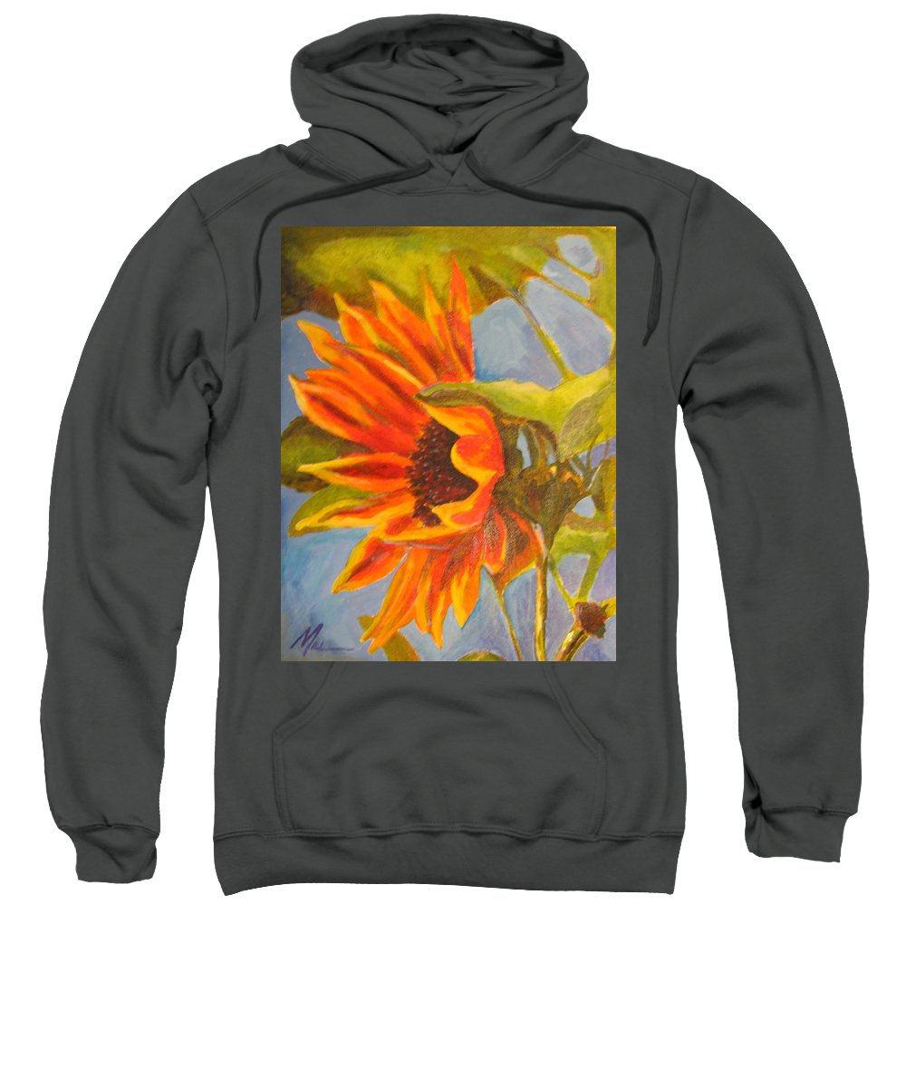 Flower Sweatshirt featuring the painting For You by Melody Horton Karandjeff