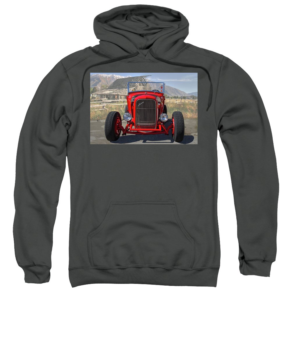 Ford Sweatshirt featuring the photograph Ford Hiboy Hot Rod by Nick Gray