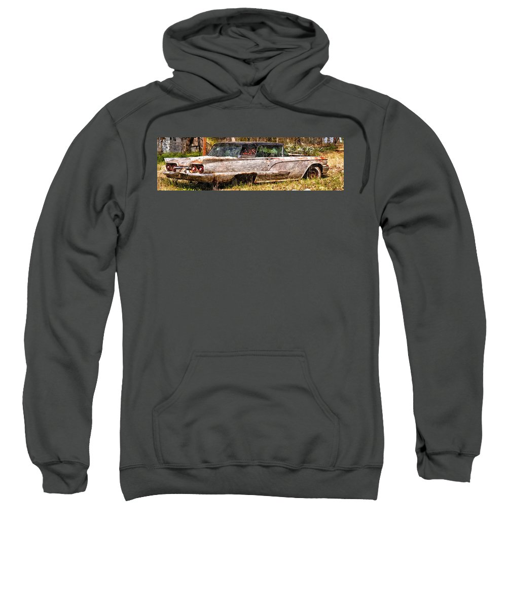 Accident Sweatshirt featuring the photograph Ford Thunderbird by Gary Adkins