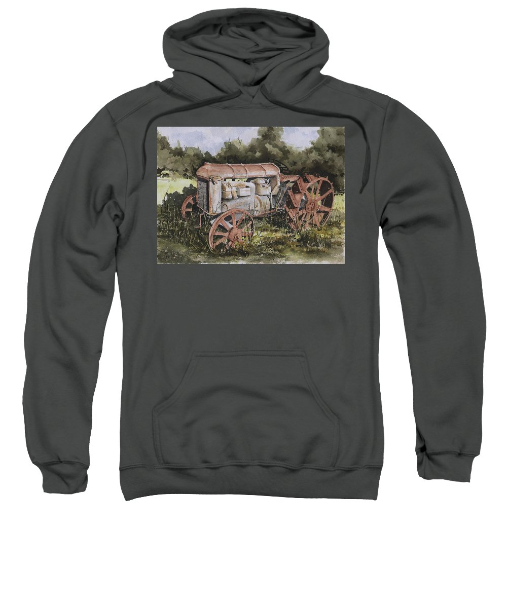 Farm Sweatshirt featuring the painting Fordson Model F by Sam Sidders