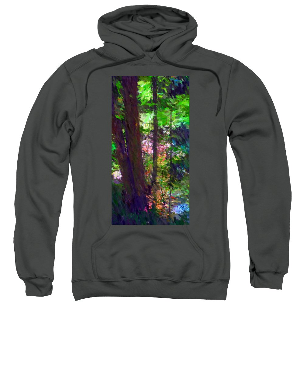Digital Photography Sweatshirt featuring the digital art Forest For The Trees by David Lane