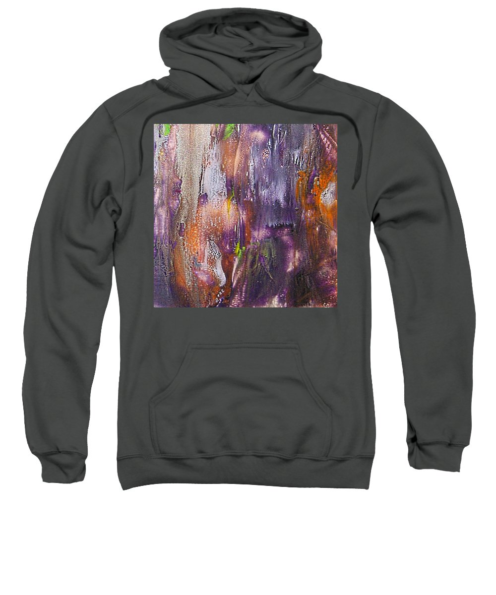 Forest Ghost Sweatshirt featuring the painting Forest Ghost by Dragica Micki Fortuna