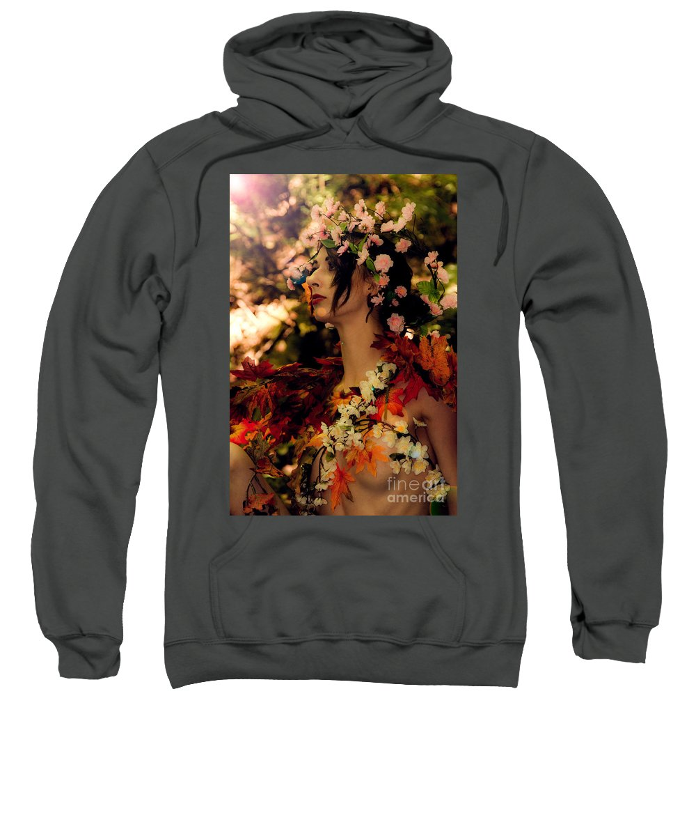 Flowers Sweatshirt featuring the photograph Forest Nymph by Shawn Ripley