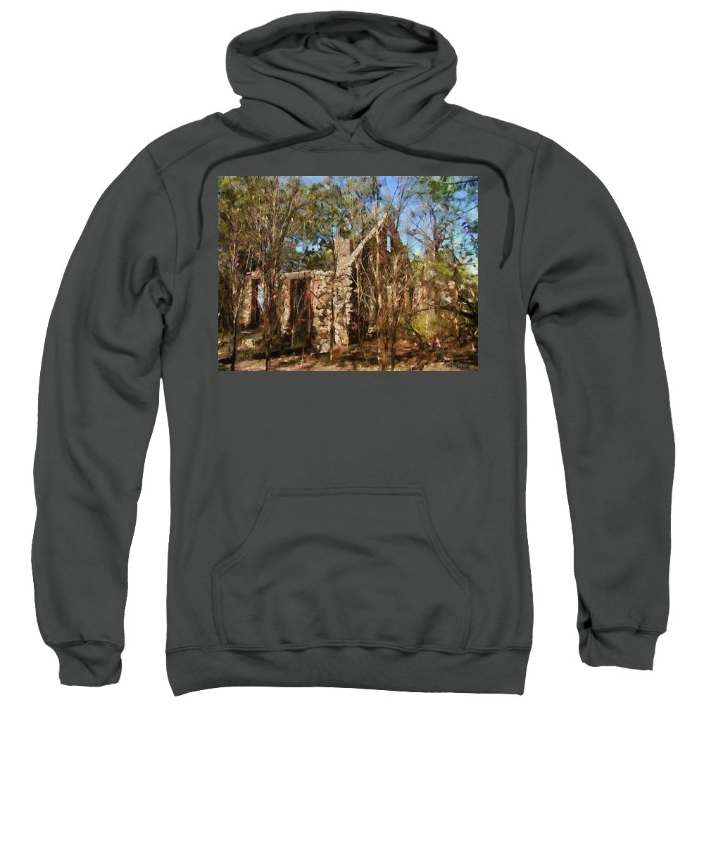 Abandon Sweatshirt featuring the painting Forgotten by Jeffrey Kolker