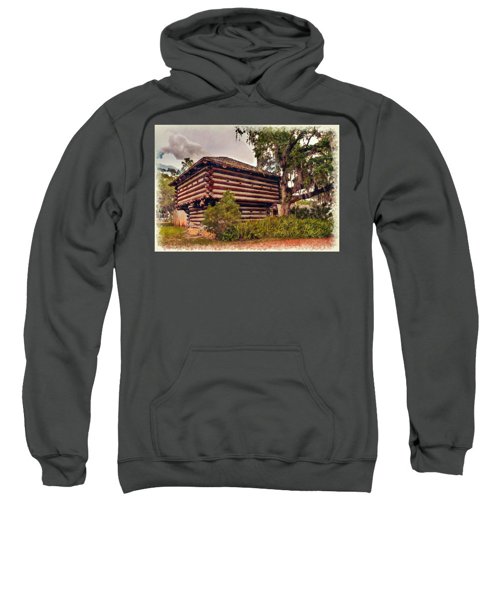 Architecture Sweatshirt featuring the photograph Fort Christmas Florida by John M Bailey