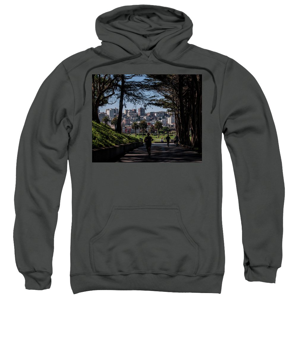 San Francisco Sweatshirt featuring the photograph Fort Mason Frame by Andrew Hollen