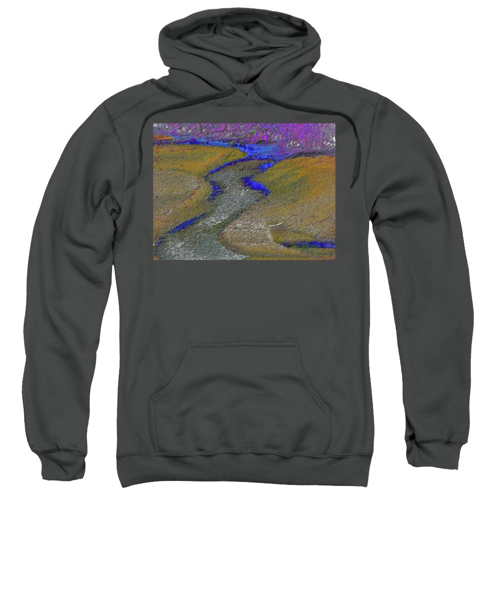 Abstract Sweatshirt featuring the photograph Fountain Creek by Lenore Senior