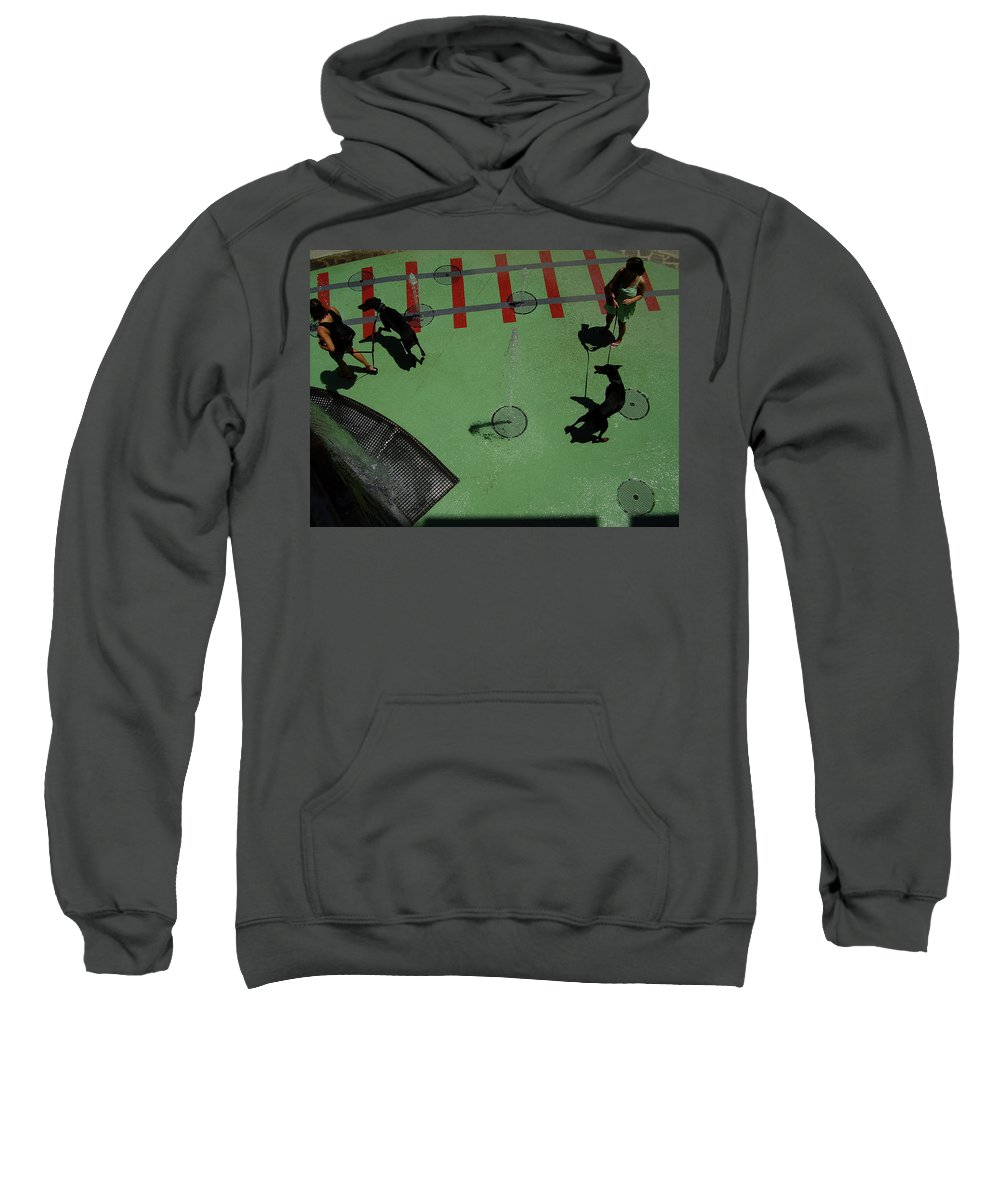Fountain Sweatshirt featuring the photograph Fountain by Flavia Westerwelle