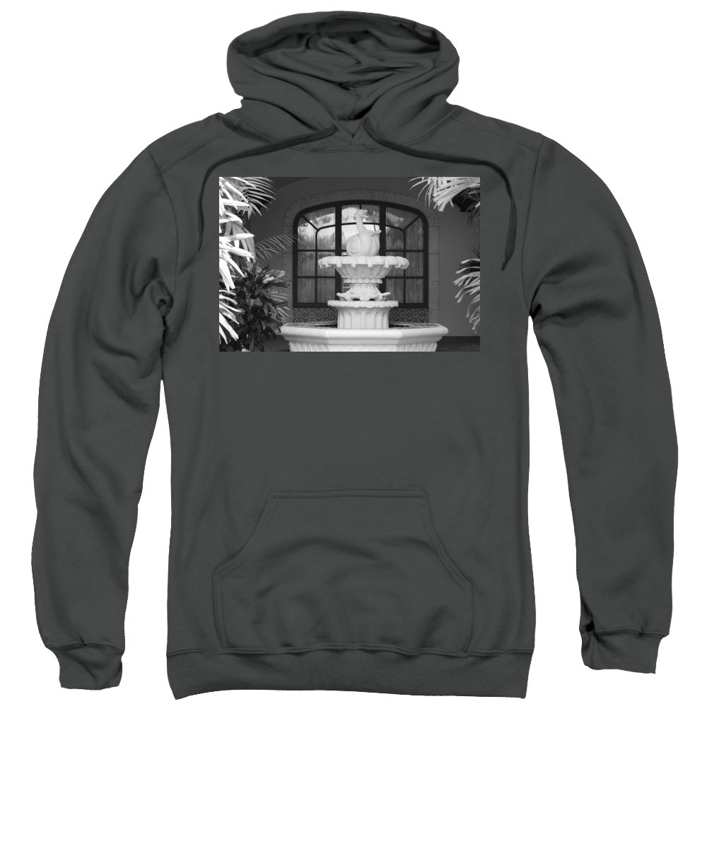 Architecture Sweatshirt featuring the photograph Fountian And Window by Rob Hans
