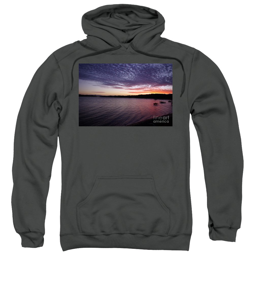 Landscape Sweatshirt featuring the photograph Four Elements Sunset Sequence 4 Coconuts Qld by Kerryn Madsen- Pietsch