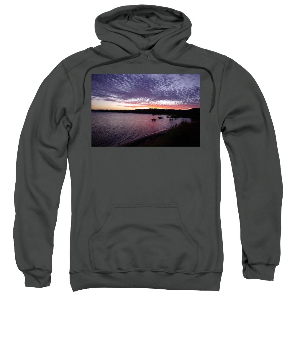 Landscape Sweatshirt featuring the photograph Four Elements Sunset Sequence 6 Coconuts Qld by Kerryn Madsen-Pietsch