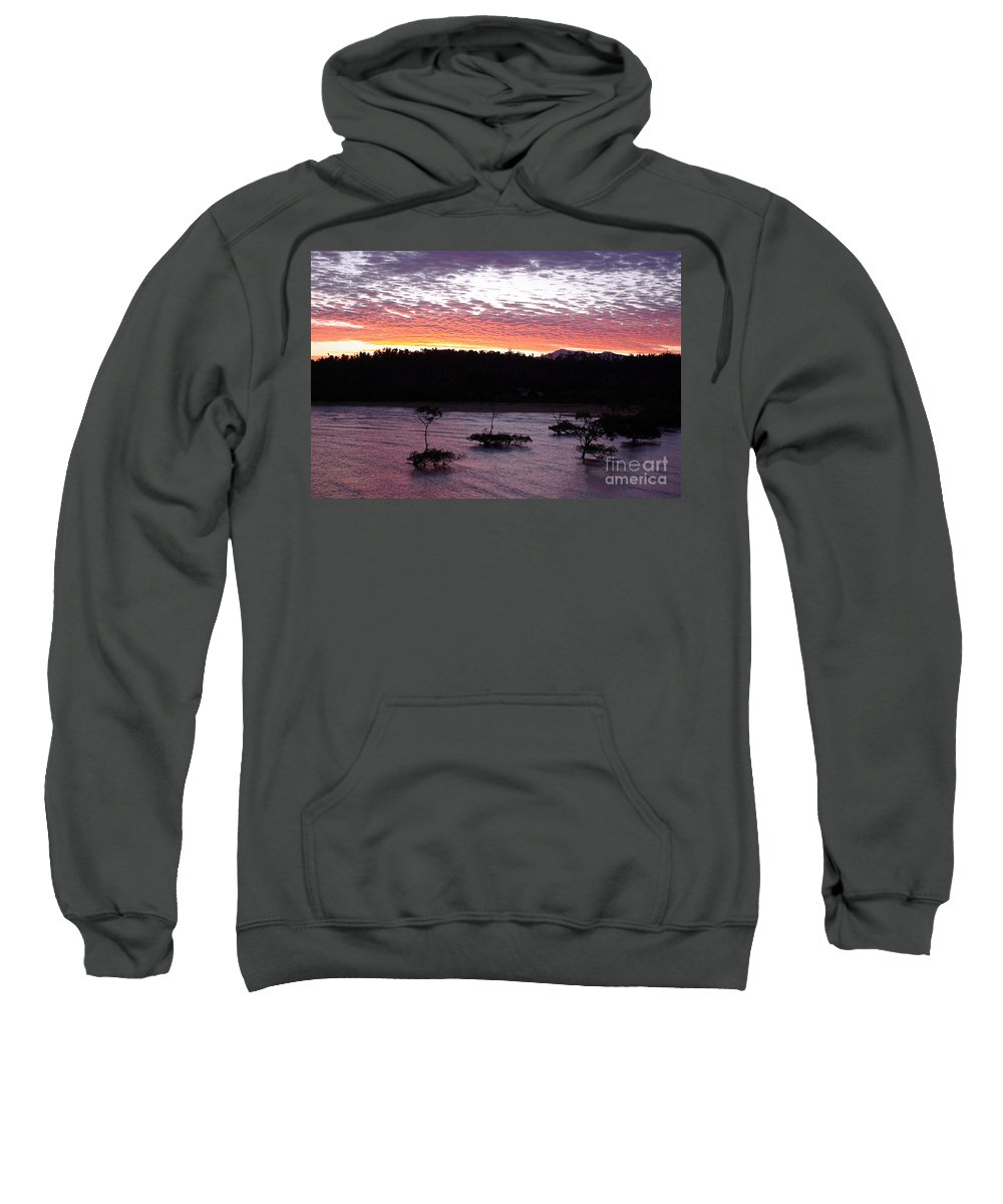 Landscape Sweatshirt featuring the photograph Four Elements Sunset Sequence 8 Coconuts Qld by Kerryn Madsen - Pietsch