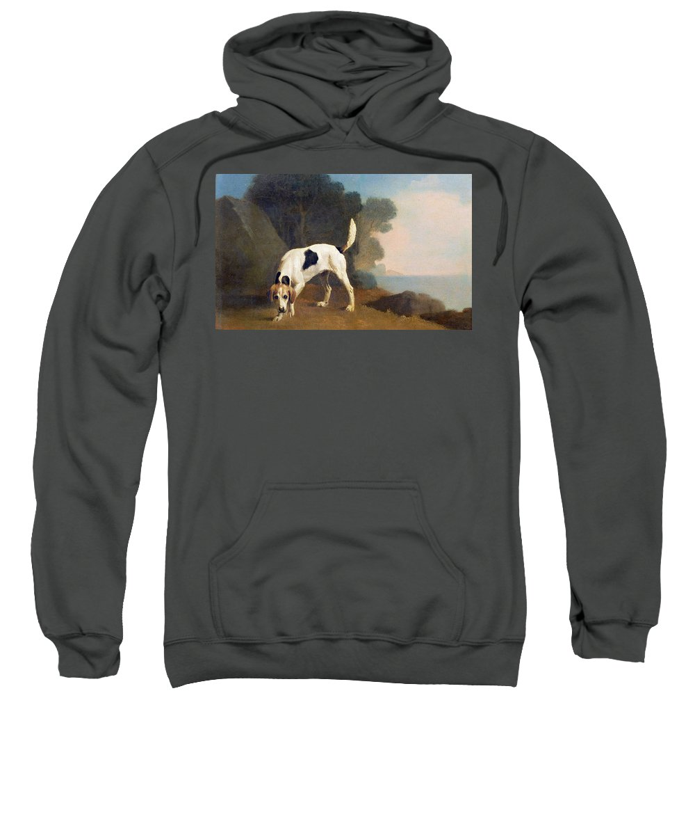 Xyc158003 Sweatshirt featuring the photograph Foxhound On The Scent by George Stubbs