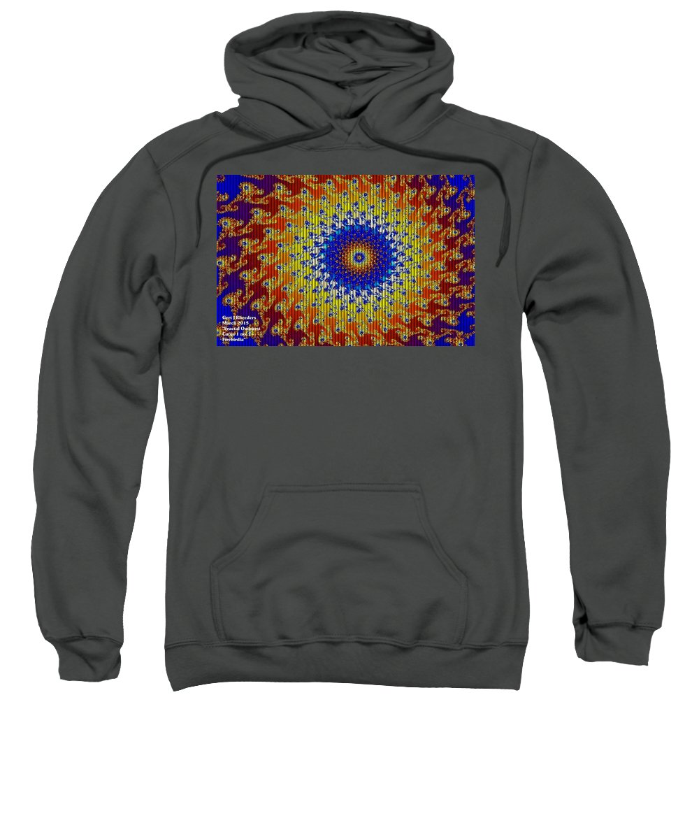 Announcement Sweatshirt featuring the painting Fractal Outburst Catus 1 No. 7 - Firebirdia H A by Gert J Rheeders