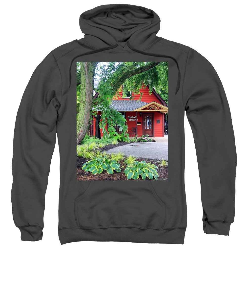 Carmel Sweatshirt featuring the photograph Framed In Indiana by Steve Gass
