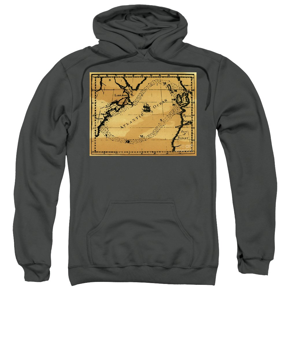 18th Century Sweatshirt featuring the drawing Franklin Chart, 1786 by Granger