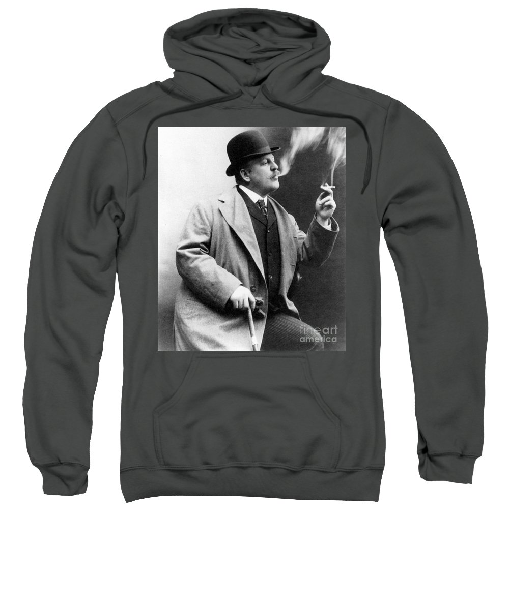 1909 Sweatshirt featuring the photograph Frederic Remington by Granger