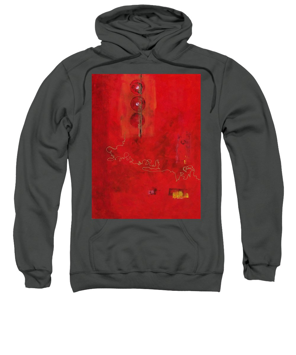 Abstract Expressionism Sweatshirt featuring the painting Free Spirit 007 by Donna Frost