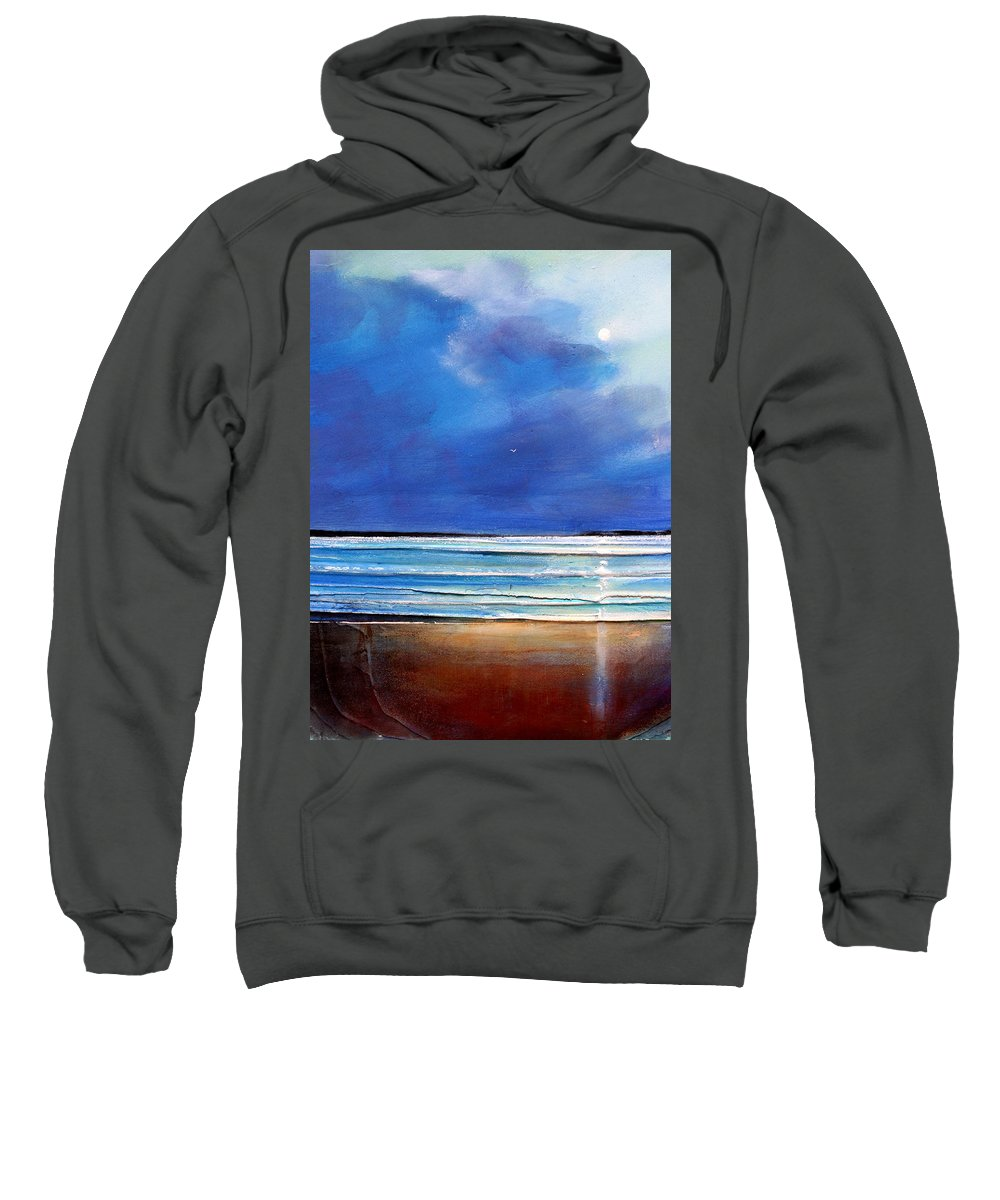 Seascape Sweatshirt featuring the painting Freedom Flight by Toni Grote