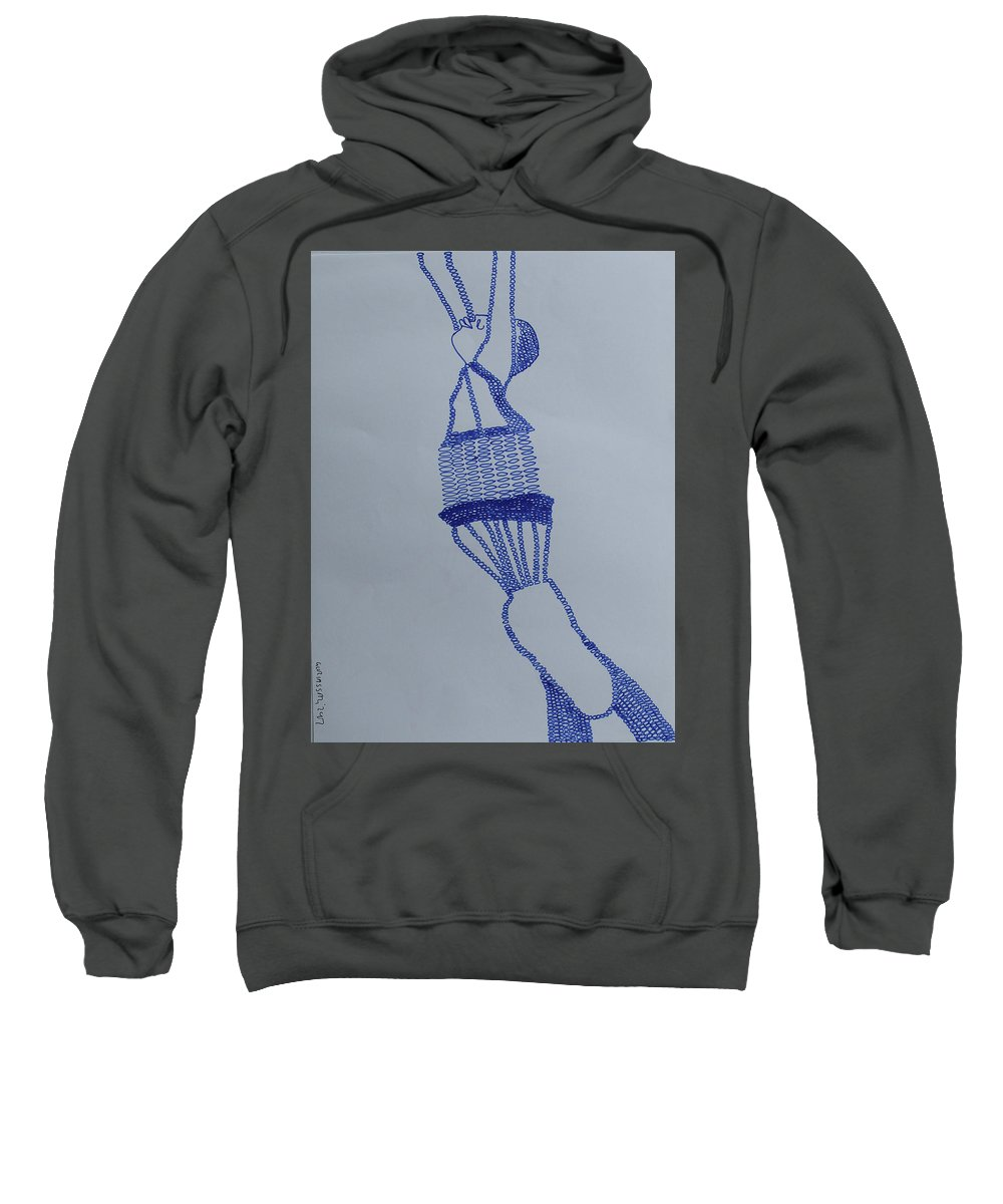 Jesus Sweatshirt featuring the painting Freedom by Gloria Ssali
